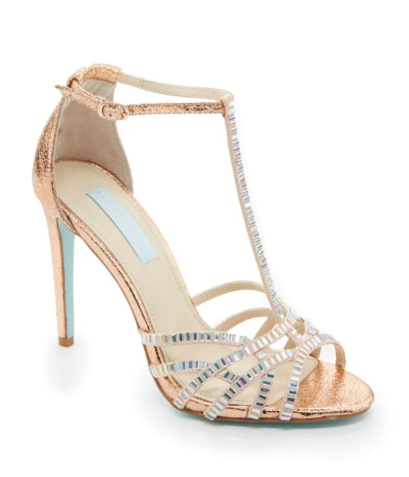 Blue by Betsey Johnson Ruby T-Strap Dress Sandals