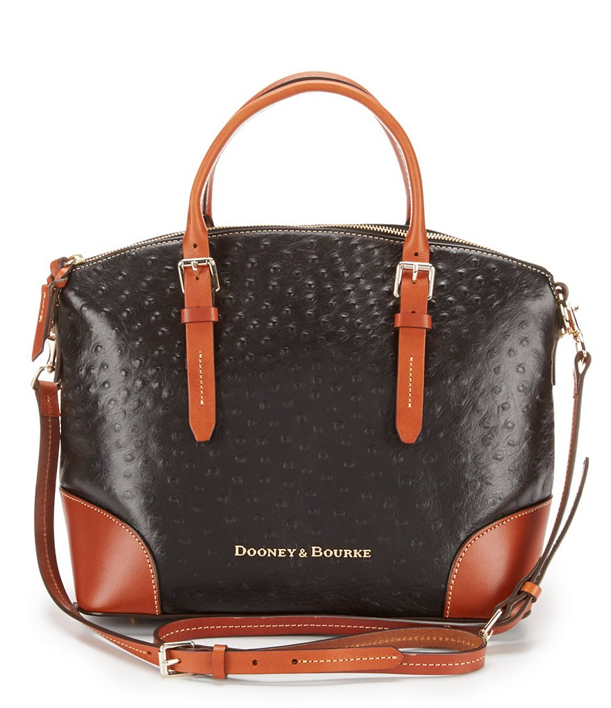 Dooney & Bourke Ostrich-Embossed Domed Satchel