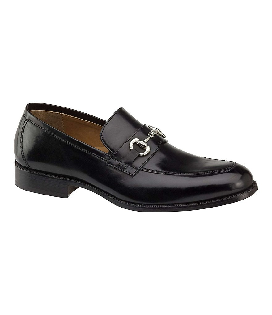 Johnston & Murphy Stratton Bit Calfskin Loafers