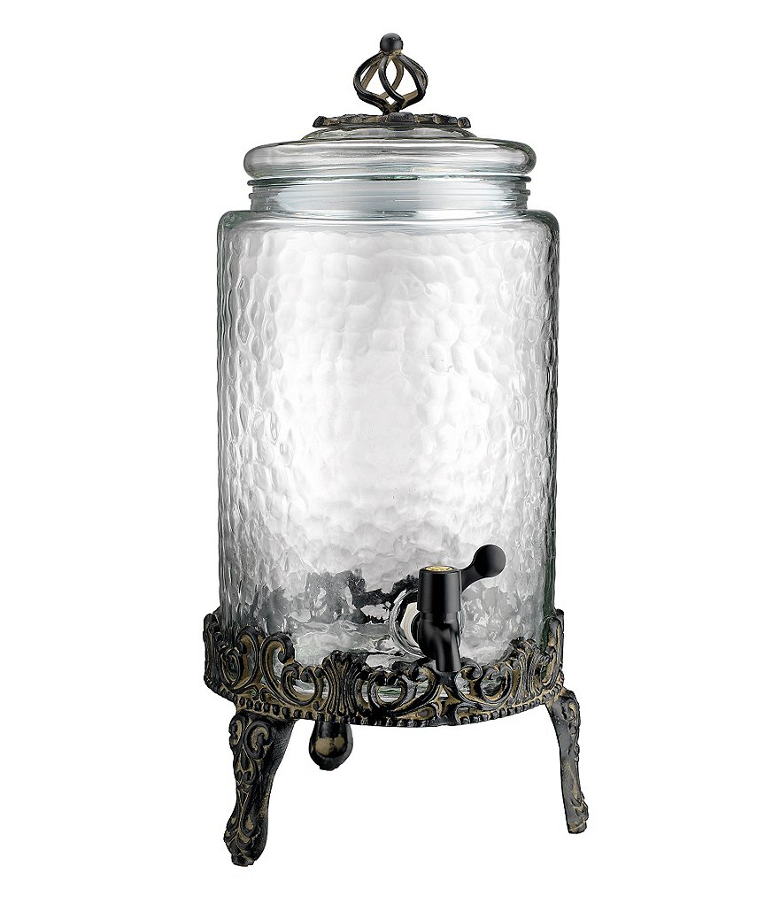 Artimino Venetian Hammered Glass Drink Dispenser