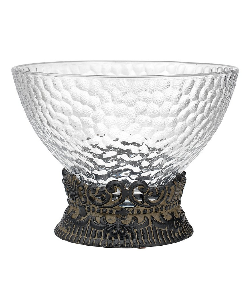 Artimino Venetian Hammered Glass Bowl with Stand