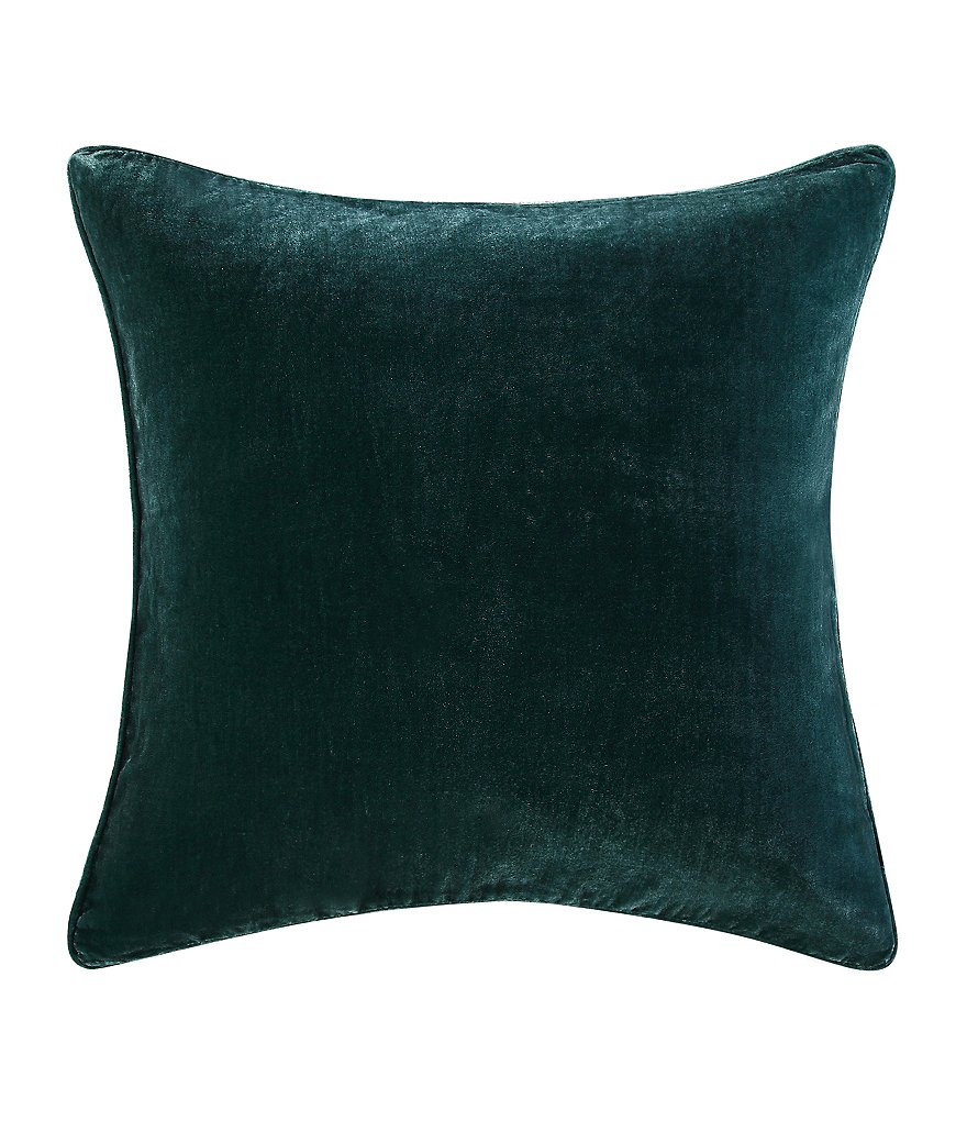 Poetic Wanderlust™ by Tracy Porter Florabella Velvet & Faux-Silk Square Feather Pillow
