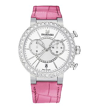 Swarovski Citra Sphere Chronograph Leather-Strap Watch