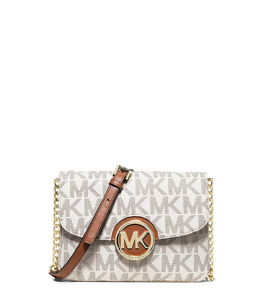 MICHAEL Michael Kors Fulton Signature Flap Gusset Cross-Body Bag