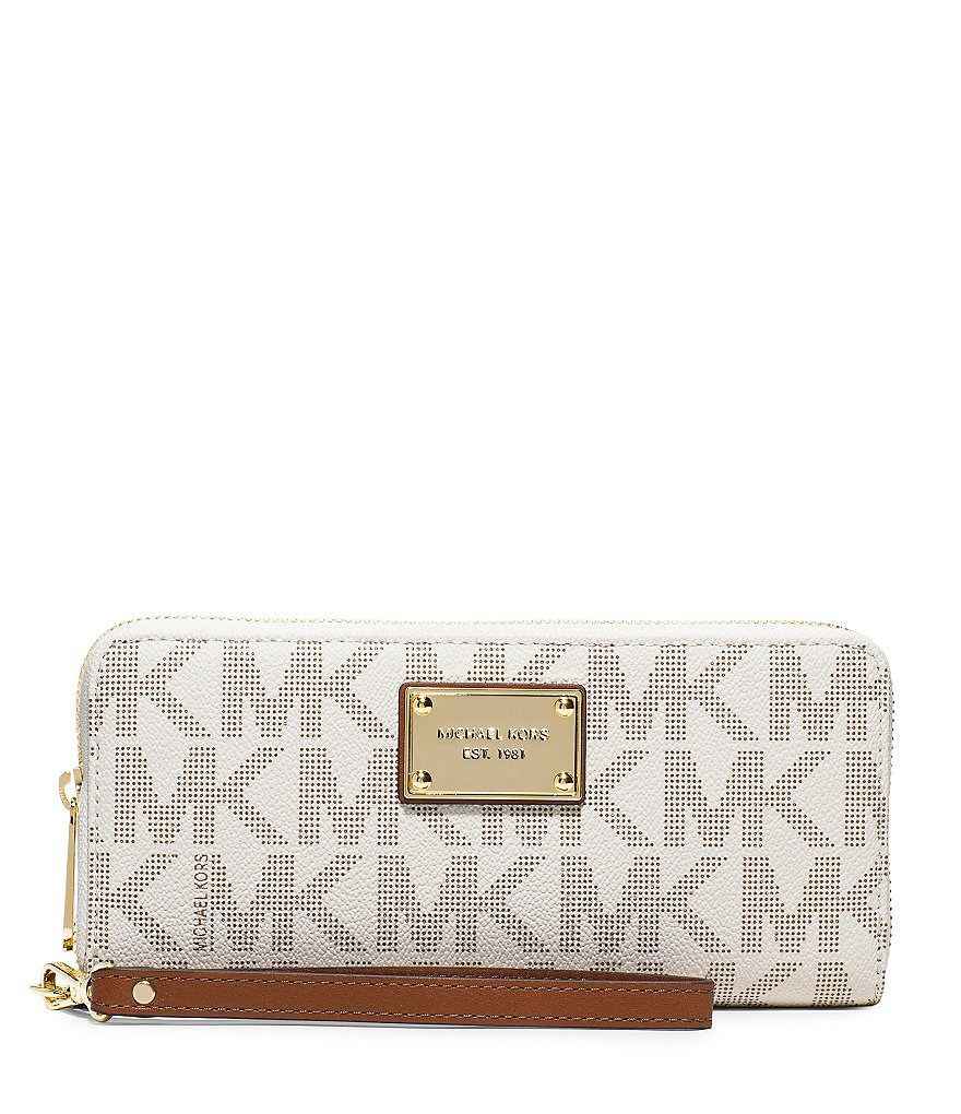 MICHAEL Michael Kors Jet Set Signature Travel Continental Multifunction Phone Wallet