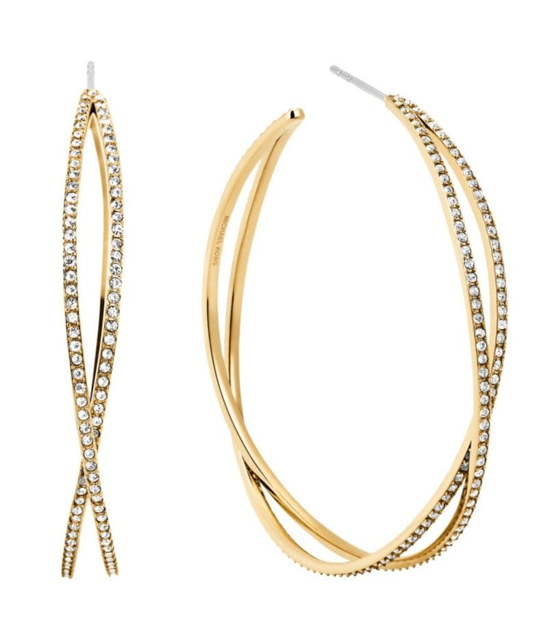 Michael Kors Criss-Cross Hoop Earrings