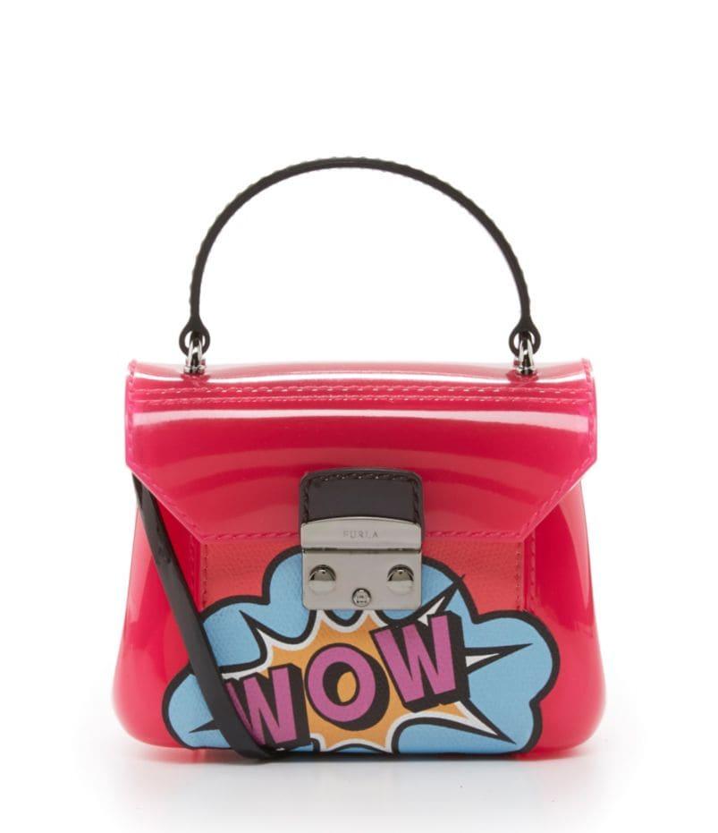 Furla Candy Bon Bon Mini Graffiti-Print Cross-Body