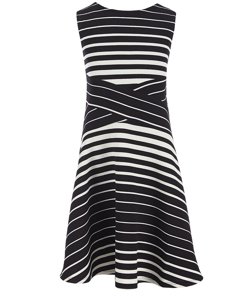 Monteau Girl Big Girls 7-16 Striped Skater Dress