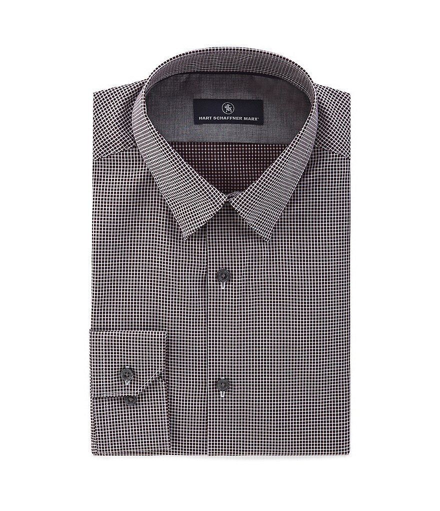Hart Schaffner Marx Long-Sleeve Mini-Check Woven Shirt