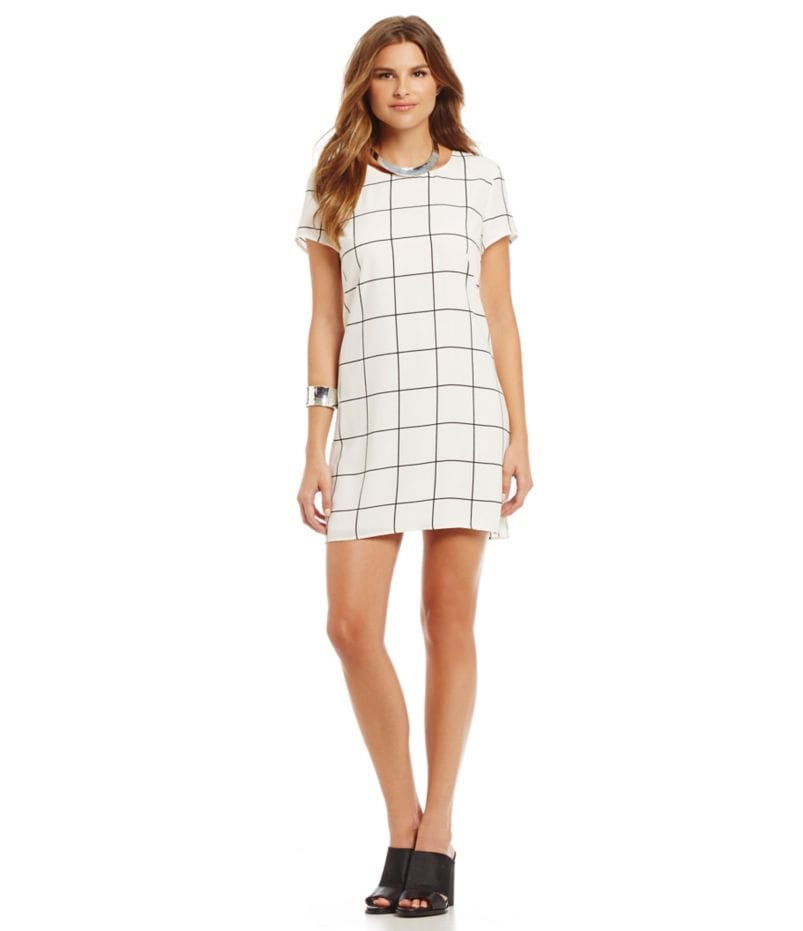 Sugarlips Grid-Print Shift Dress