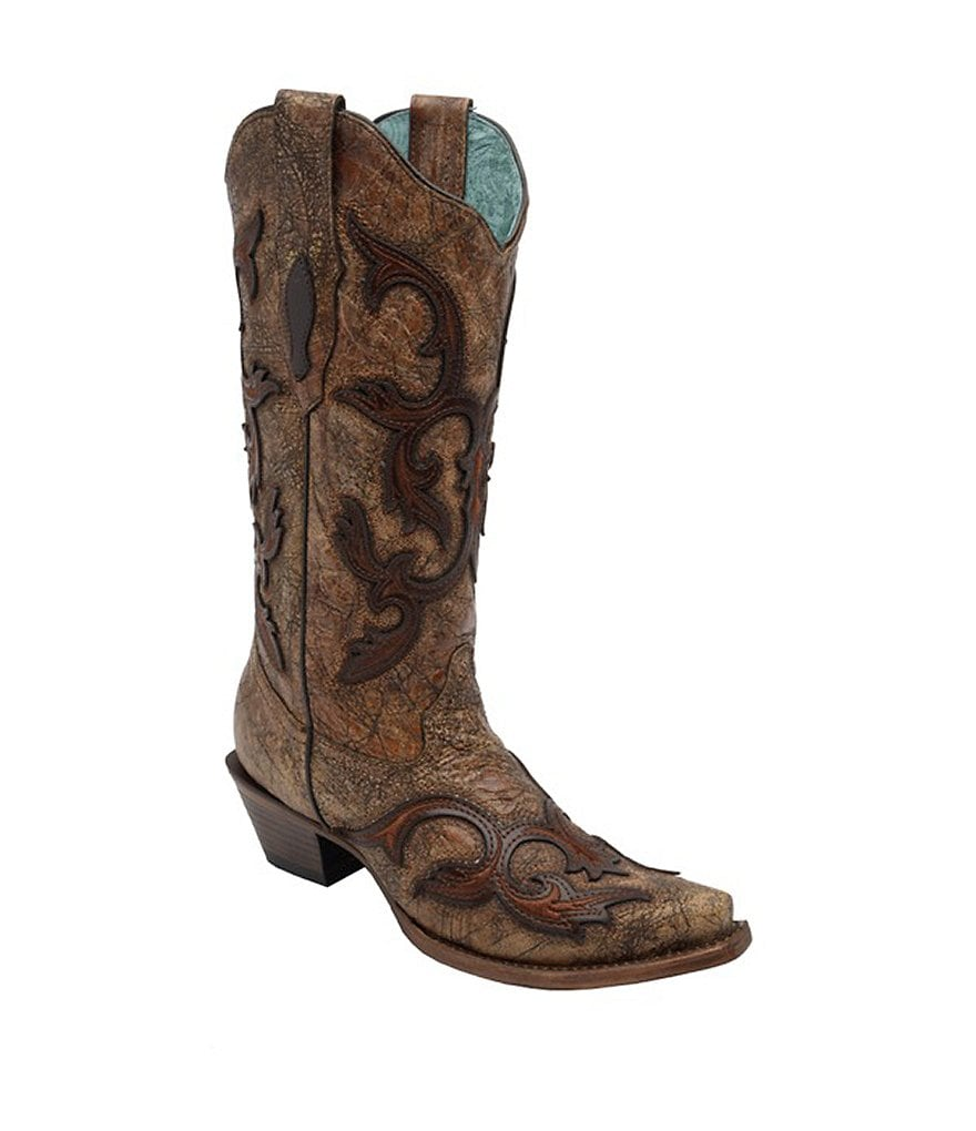 Corral Boots Overlay Snip-Toe Boots