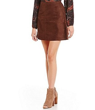 Sanctuary Clothing Mod Faux-Suede Skirt