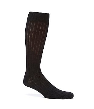 Cremieux Solid Wool Over-the-Calf Dress Socks