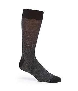Cremieux Micro Stripe Crew Dress Socks