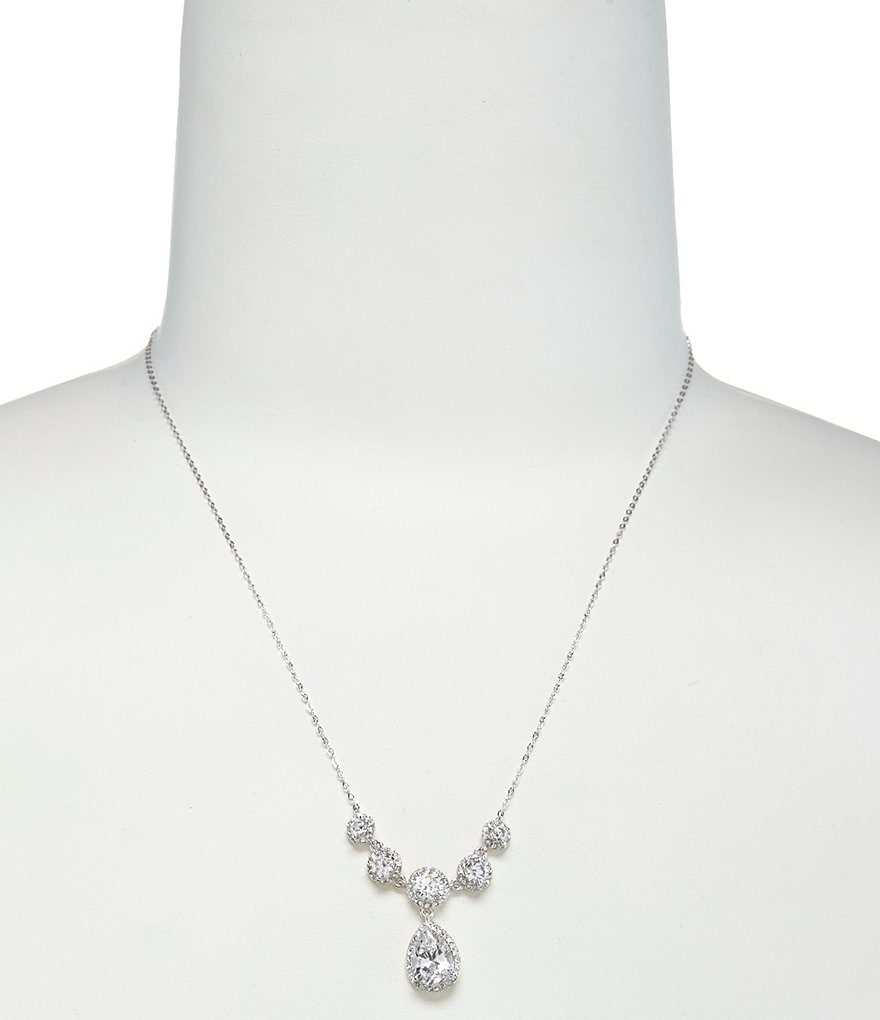 Nadri Pear Drop Frontal Necklace