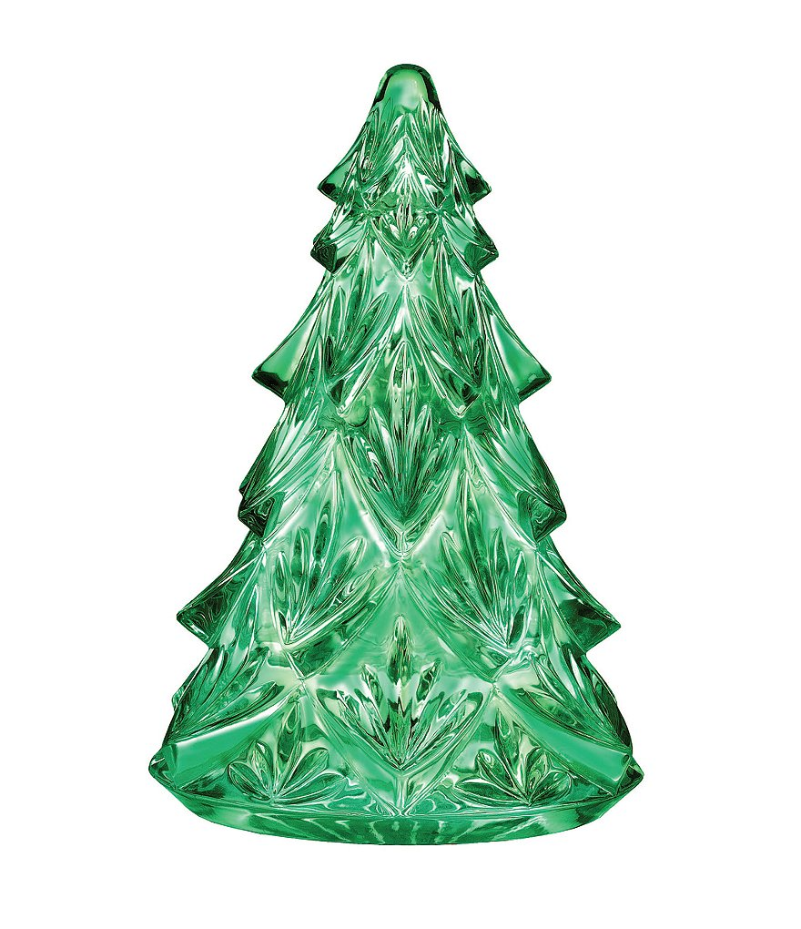 Waterford Green Crystal Christmas Tree Sculpture