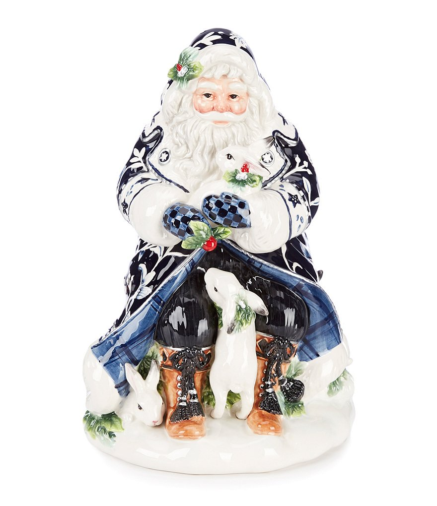 Fitz and Floyd Holiday Bristol Santa Cookie Jar