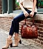 Color:Cognac - Image 8 - Frye Melissa Washed Leather Tote