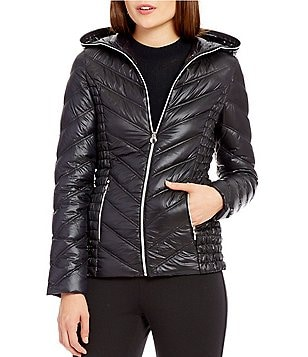 Preston & York Packable Ruched Side Detail Puffer