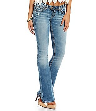 Silver Jeans Co. Tuesday Distressed Slim Bootcut Jeans