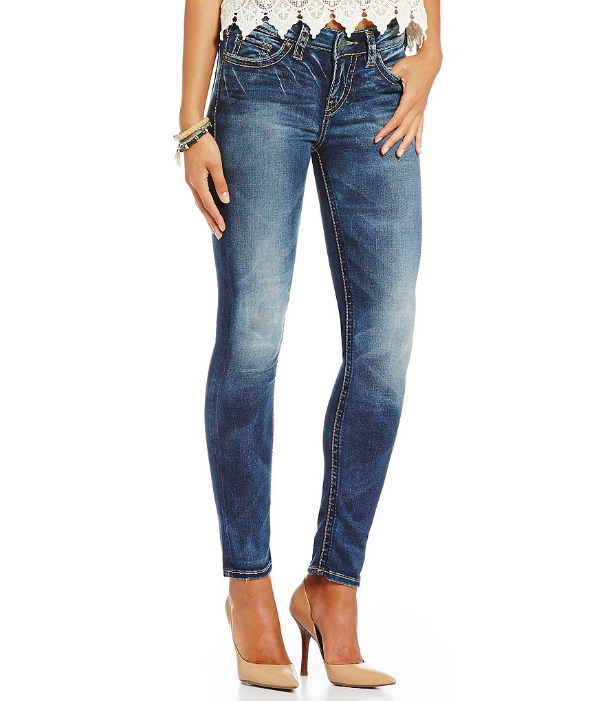 Silver Jeans Co. Suki Mid-Rise Skinny Jeans