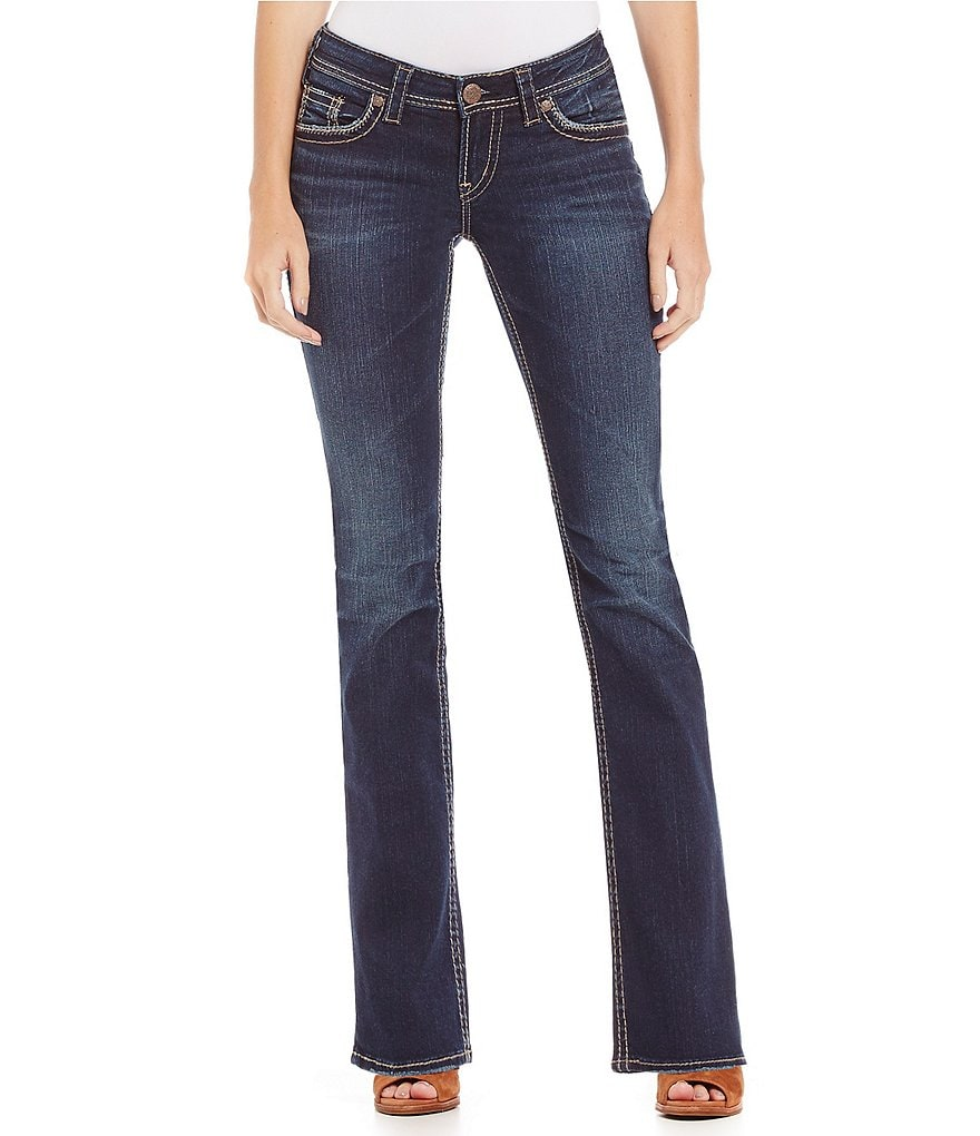Silver Jeans Co. Aiko Mid-Rise Slim Bootcut Jeans