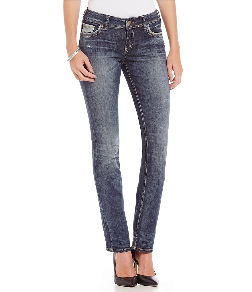 Silver Jeans Co. Suki Mid-Rise Straight-Leg Jeans