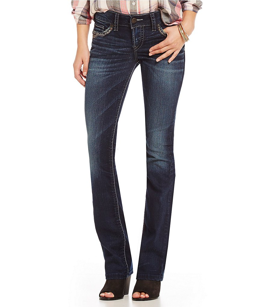 Silver Jeans Co. Suki Mid-Rise Slim-Fitting Bootcut Jeans