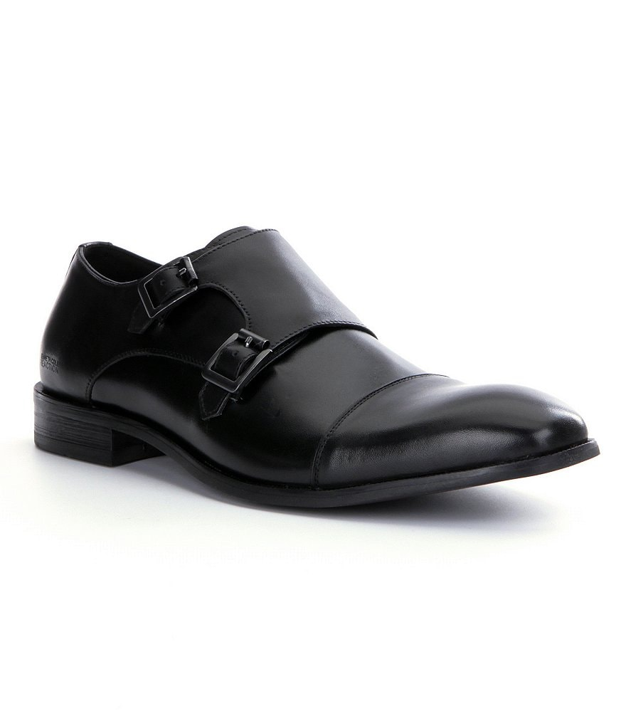 Kenneth Cole Reaction Ave-Nue Cap-Toe Monk Strap Loafers