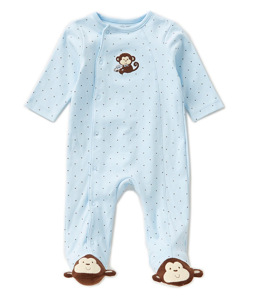 Little Me Baby Boys Preemie-12 Months Monkey Star Footed Coverall