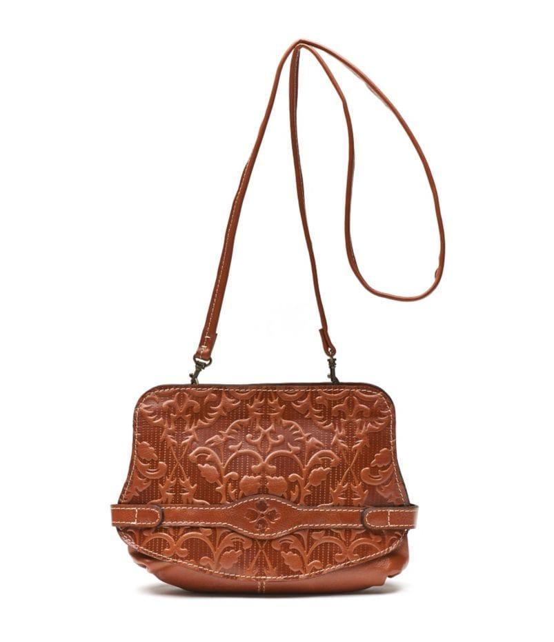 Patricia Nash Italian Folklore Vada Frame Embossed Cross-Body Bag