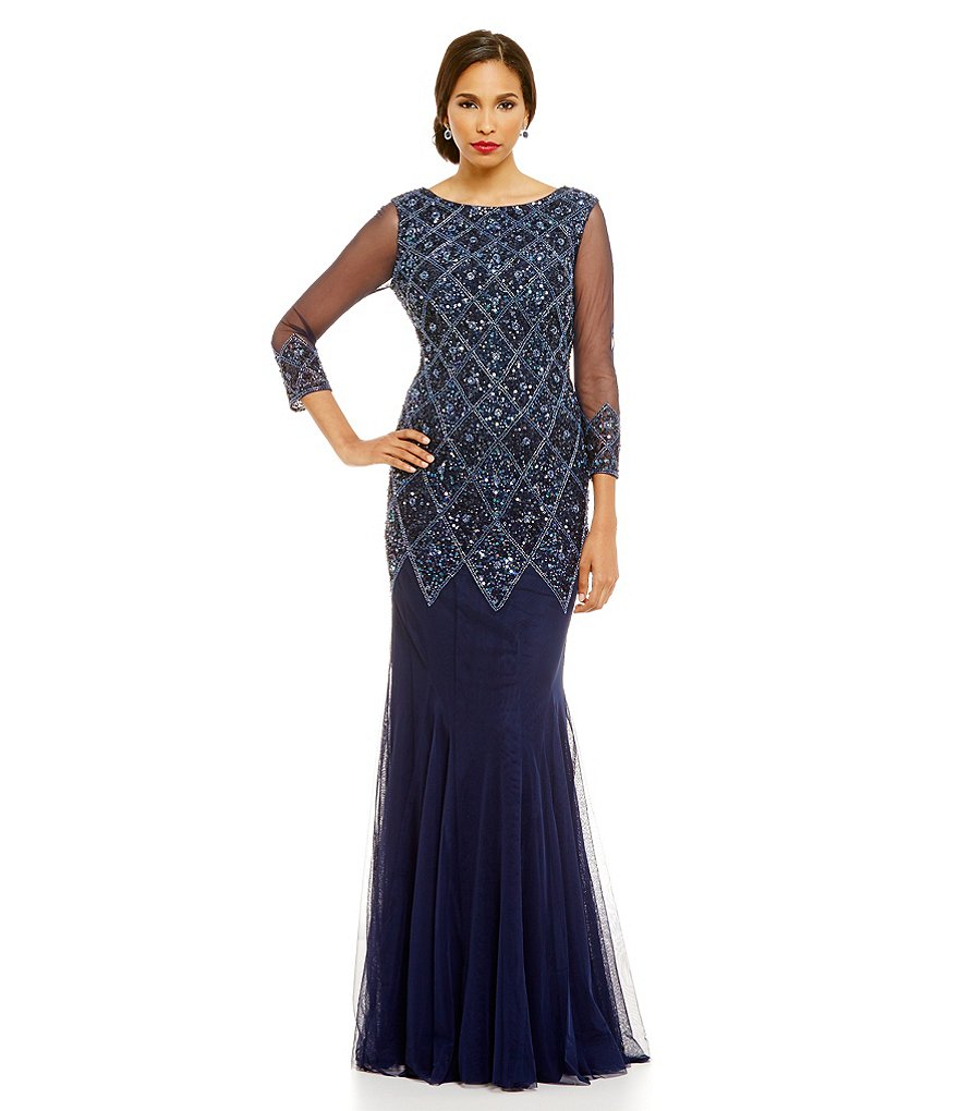 JS Collections Diamond Beaded Gown
