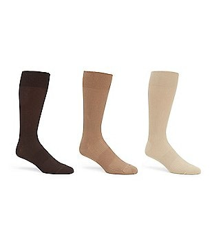 Gold Label Roundtree & Yorke Solid Ribbed Crew Socks 3-Pack