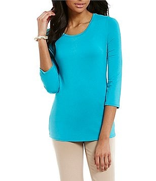 Investments Essentials 3/4-Sleeve Top