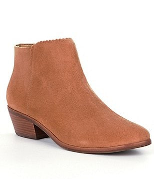 Jack Rogers Bailee Suede Scalloped Booties