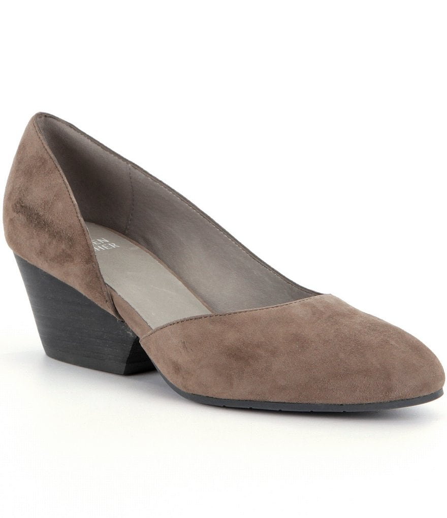 Eileen Fisher Lily d´Orsay Suede Slip On Pumps