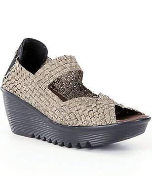 Bernie Mev. Hallie Peep-Toe Mary Jane Wedges