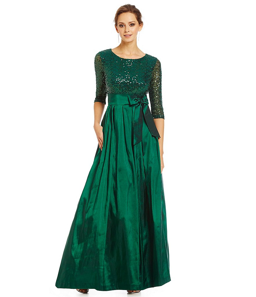 Jessica Howard Sequin Embellished Gown