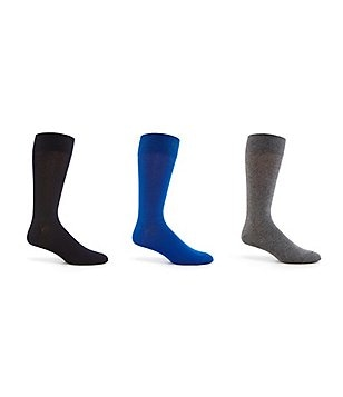 Cole Haan Solid Flat Knit Crew Socks