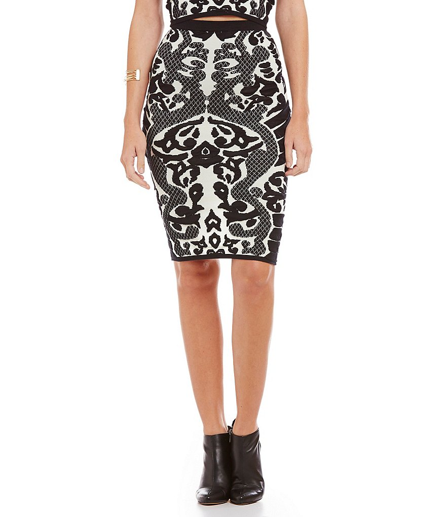 Lucy Paris Baroque Pencil Skirt