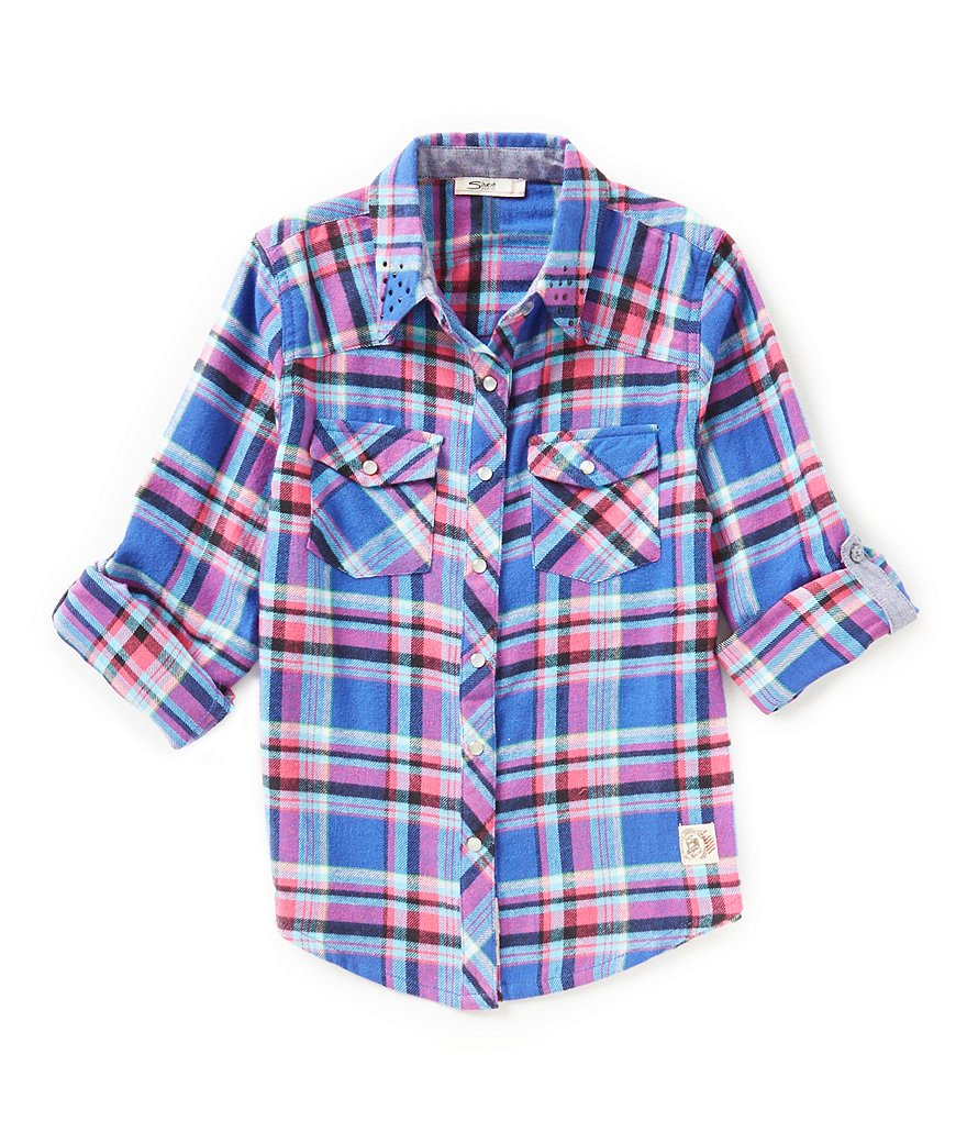 Silver Jeans Co. Big Girls 7-16 Plaid Woven Shirt