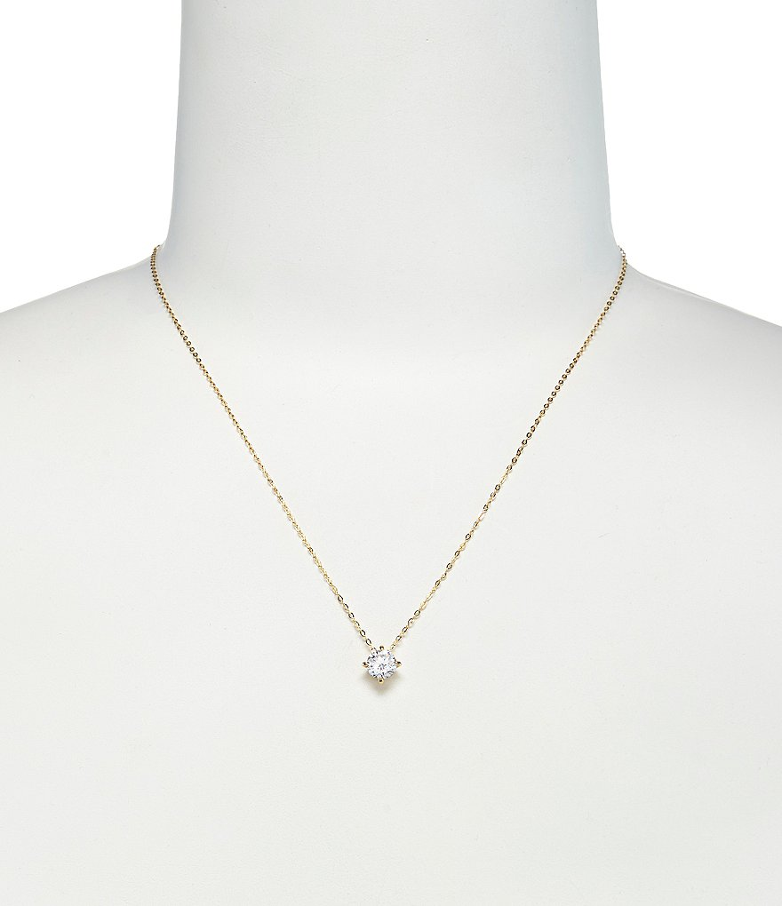Nadri Floating Cubic Zirconia Pendant Necklace