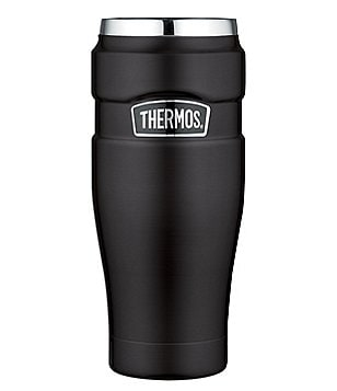 Thermos 16-oz. Vacuum-Insulated Matte Black Travel Mug