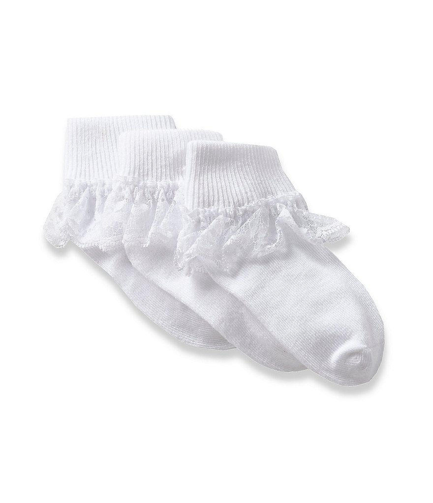 Starting Out 3-Pack Lace Trimmed Socks