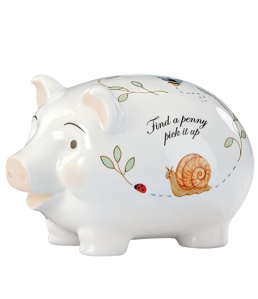 Lenox Butterfly Meadow Baby Piggy Bank