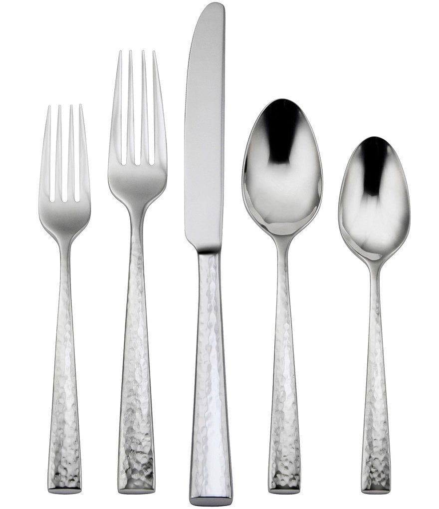 Oneida Cabria Hammered 20-Piece Stainless Steel Flatware Set