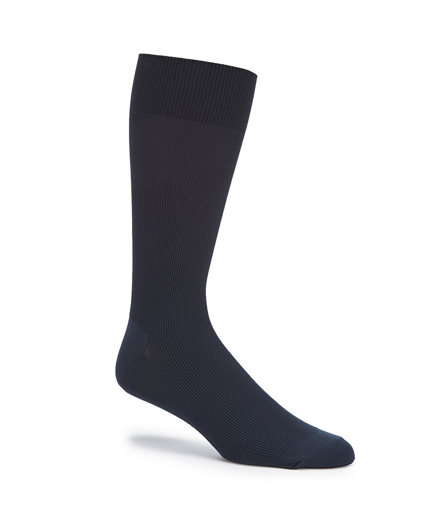 Gold Label Roundtree & Yorke Big & Tall Ribbed Crew Socks 3-Pack