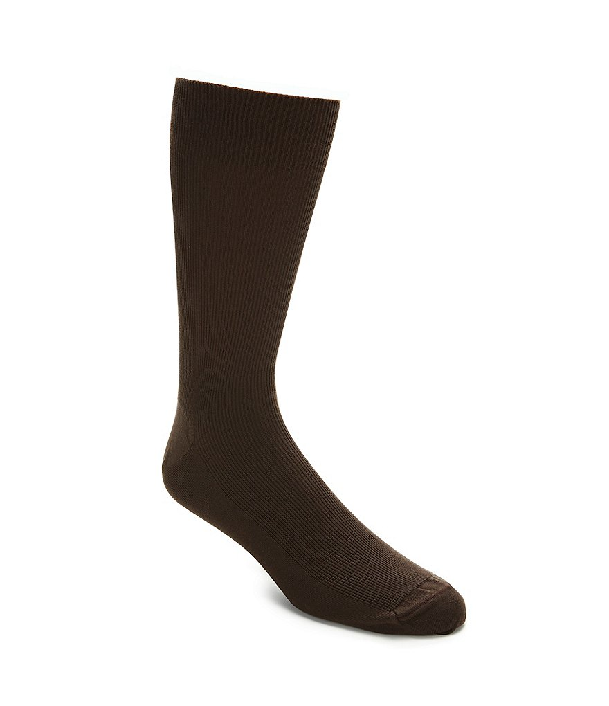 Gold Label Roundtree & Yorke Ribbed Solid Crew Socks 3-Pack