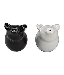 BIA Cordon Bleu Porcelain Sitting Pig Salt & Pepper Shakers Image