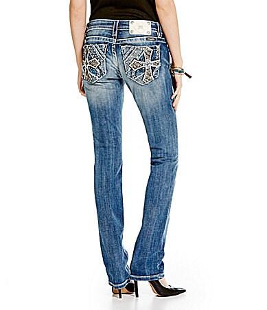 Miss Me Cross-Pocket Straight-Leg Jeans